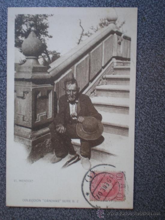 POSTAL AÑO 1907 EL MENDIGO COLECCIÓN CANOVAS (Postales - Postales Temáticas - Étnicas)