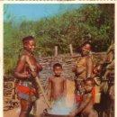Postales: SOUTH AFRICA - MUJERES Y NIÑOS AFRICANOS. Lote 158952069