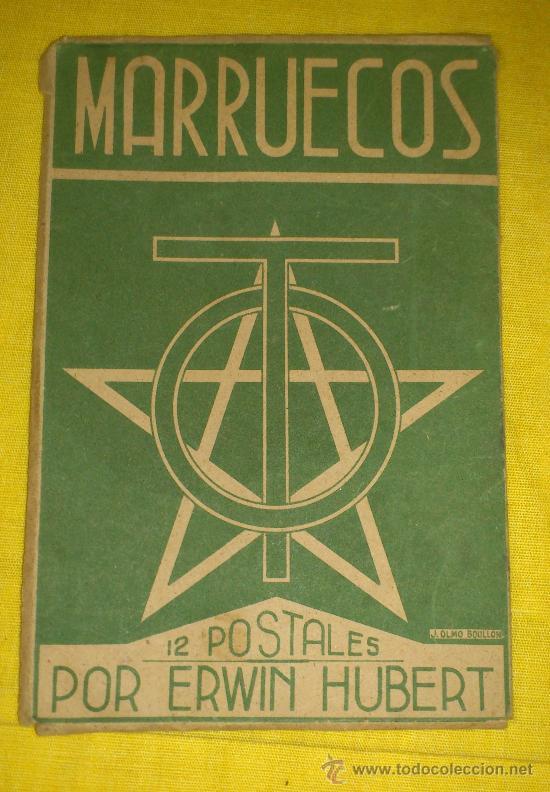 Postales: 6 POSTALES LITOGRAFICAS DE etnografia MARROQUI, MARRUECOS POR ERWIN HUBERT DIBUJANTE - Foto 2 - 36338277