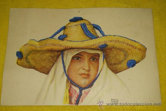 Postales: 6 POSTALES LITOGRAFICAS DE etnografia MARROQUI, MARRUECOS POR ERWIN HUBERT DIBUJANTE - Foto 13 - 36338277