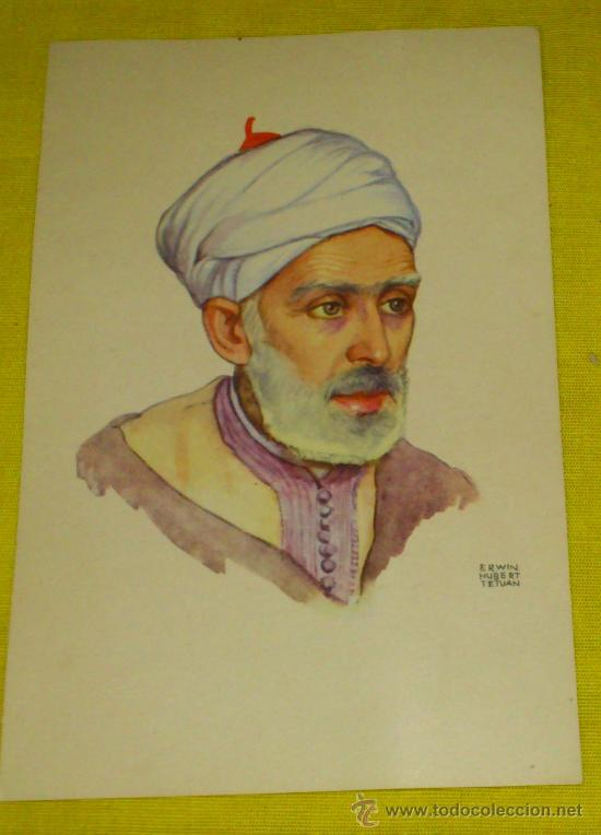 Postales: 6 POSTALES LITOGRAFICAS DE etnografia MARROQUI, MARRUECOS POR ERWIN HUBERT DIBUJANTE - Foto 15 - 36338277