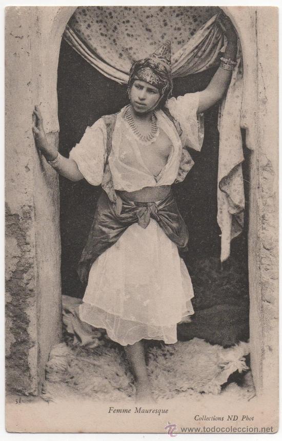 JOVEN MARROQUI, SEMIDESNUDA, PRECIOSA POSTAL (Postales - Postales Temáticas - Étnicas)