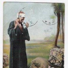 Postales: POSTAL DE JUGADORES DE EGIPTO CIRCULADA EN 1905. Lote 37207118