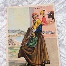 Postales: POSTAL TRAJE REGIONAL GUIPUZCOA BRIOBASE SECRETARIA GENERALISIMO. Lote 38317091
