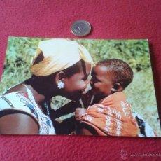 Postales: ANTIGUA Y BONITA POSTAL AFRICA JOVEN MADRE EDACAF EGS 1965 NO ESCRITA NI CIRCULADA.. Lote 41130062