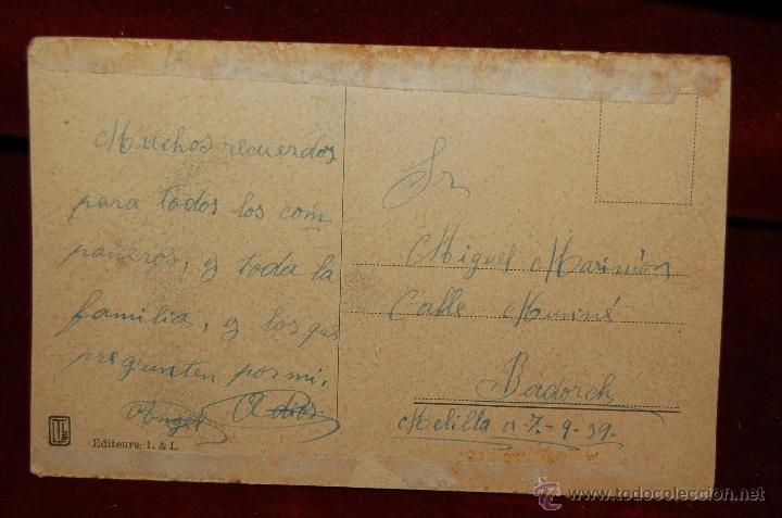 Postales: ANTIGUA POSTAL JEUNE ARABE DE SUD. CON SELLO DE LA FALANGE (JOSE ANTONIO-PRESENTE). ESCRITA - Foto 3 - 42520921