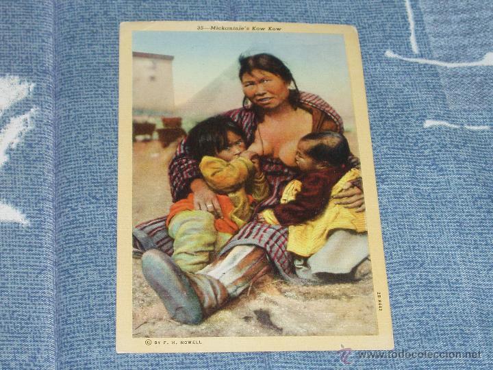 3 POSTALES DE MUJERES INDIAS. 1901-1920. = INDIOS, VAQUEROS = (Postales - Postales Temáticas - Étnicas)
