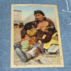 Postales: 3 POSTALES DE MUJERES INDIAS. 1901-1920. = INDIOS, VAQUEROS =. Lote 43156904