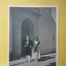 Postales: POSTAL BLANCO Y NEGRO. COLECCIÓN TRAJES REGIONALES. Lote 44307761