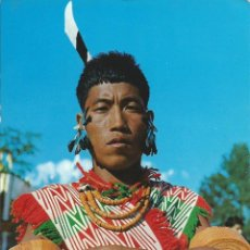 Postales: 2 FOTOS POSTALES DE LA INDIA - GUERREROS ANGAMI WARRIOR KOHIMA NAGALAN SIN CIRCULAR . Lote 44466929