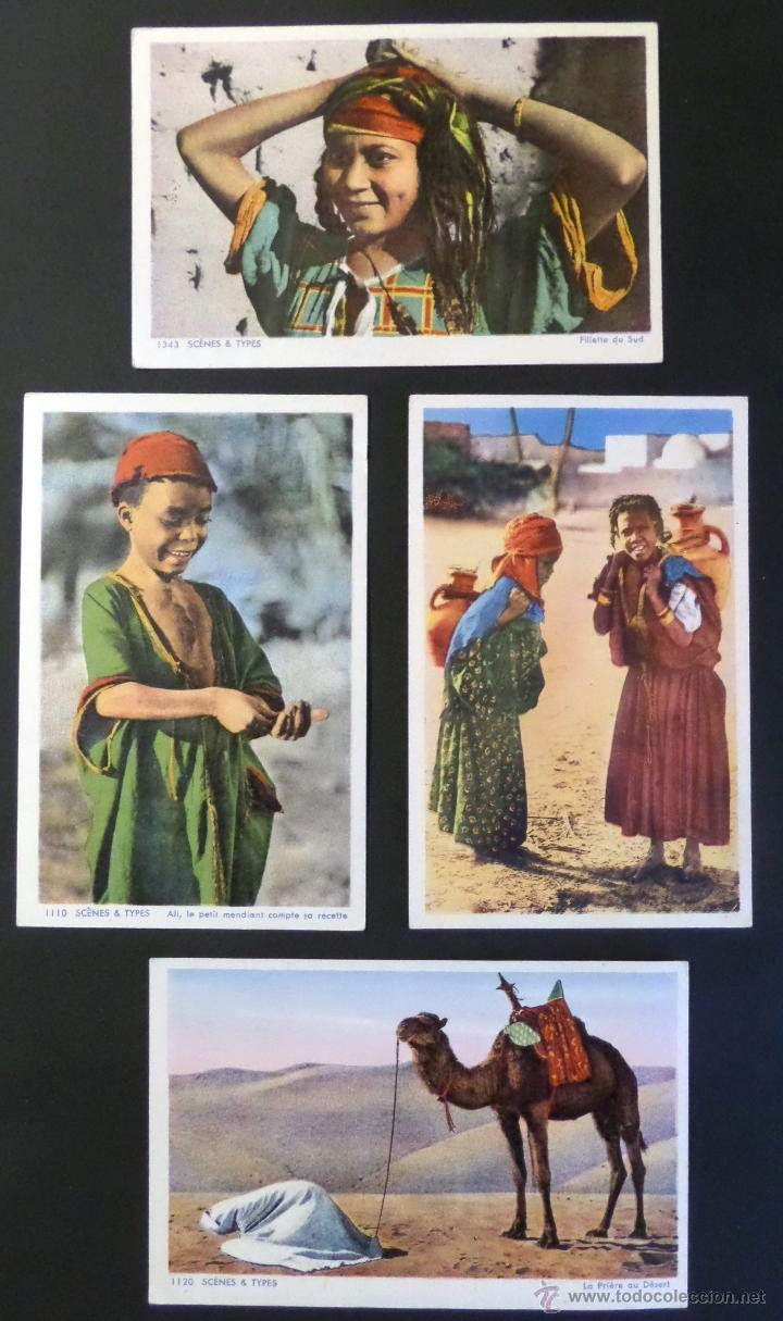 4 ANTIGUAS POSTALES DE ESCENAS TIPICAS, EDITADAS EN FRANCIA. SIN CIRCULAR, VER FOTOGRAFIAS (Postales - Postales Temáticas - Étnicas)