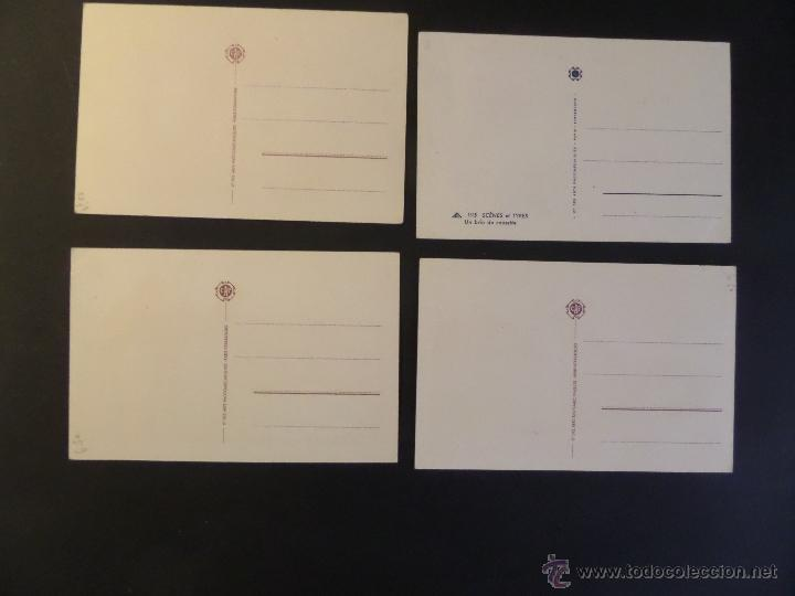 Postales: 4 antiguas Postales de Escenas Tipicas, editadas en Francia. Sin circular, ver fotografias - Foto 2 - 45099815
