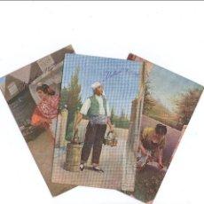 Postales: LOTE DE 3 POSTALES TIPICAS AGUADOR, TIPOS...1908 FRANQUEADAS. Lote 45242616