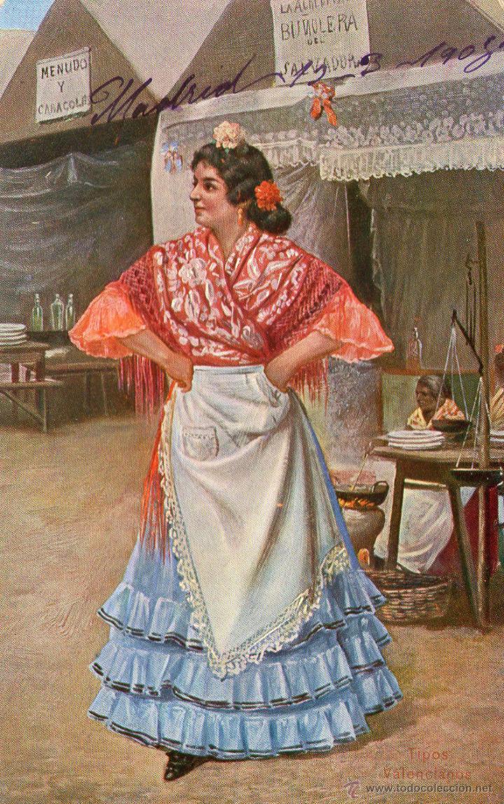 Postales: LOTE DE 3 POSTALES TIPICAS AGUADOR, TIPOS...1908 FRANQUEADAS - Foto 2 - 45242616