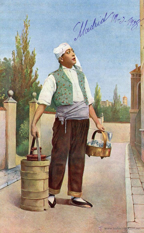 Postales: LOTE DE 3 POSTALES TIPICAS AGUADOR, TIPOS...1908 FRANQUEADAS - Foto 4 - 45242616