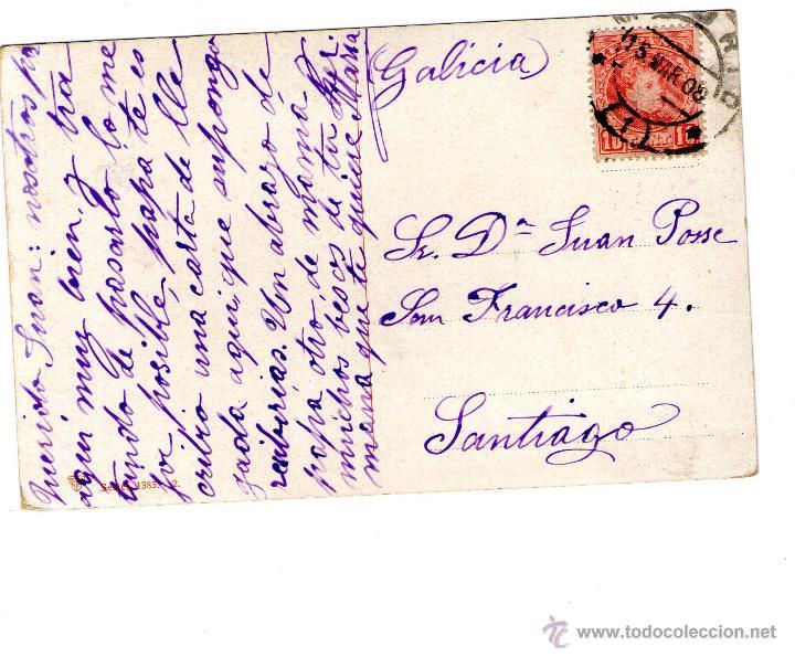 Postales: LOTE DE 3 POSTALES TIPICAS AGUADOR, TIPOS...1908 FRANQUEADAS - Foto 6 - 45242616