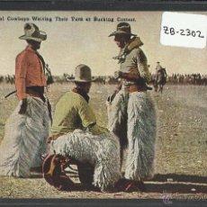 Postales: VAQUERO AMERICANO - COWBOY - (ZB-2302). Lote 49449844
