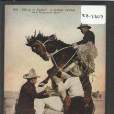 Postales: VAQUEROS AMERICANOS - COWBOYS - (ZB-2307). Lote 49449901