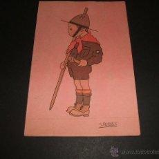 Postales: POSTAL EXPLORADORES BOY SCOUT ILUSTRADOR S. ROBLES . Lote 49626238