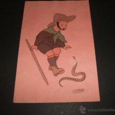 Postales: POSTAL EXPLORADORES BOY SCOUT ILUSTRADOR S. ROBLES . Lote 49626250
