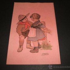 Postales: POSTAL EXPLORADORES BOY SCOUT ILUSTRADOR S. ROBLES . Lote 49626257