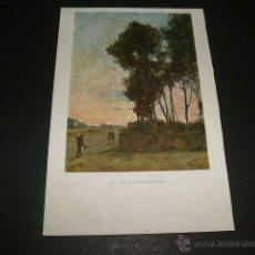 Postales: AL TOQUE DE ORACIONES POSTAL COLECCION BLANCO Y NEGRO ANTERIOR A 1905. Lote 49707597