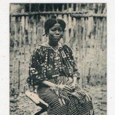 Postales: MUJER NATIVA DE ÁFRICA DEL OESTE. ESCRITA.. Lote 50297055