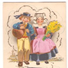 Postales: BRETAÑA, POSTAL TROQUELADA, POSTAL ANTIGUA, SIN CIRCULAR. Lote 51032877