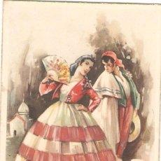 Postales: VALENCIA, DIBUJADA , TRAJE TIPICO ESPAÑOL, POSTAL ANTIGUA, SIN CIRCULAR. Lote 51067604
