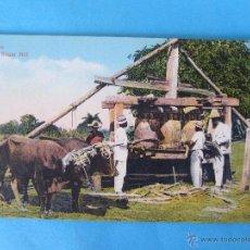 Postales: SANTIAGO DE CUBA , N. 40 , NATIVE SUGAR MILL, TRAPICHE . NATIVOS , CAÑA AZUCAR. Lote 51725489