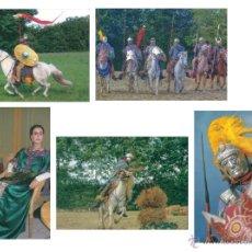 Postales: POSTAL, LOTE 5 POSTALES ETNICAS DE ROMANOS, LEGIONARIO - TIMETROTTER. Lote 53690835