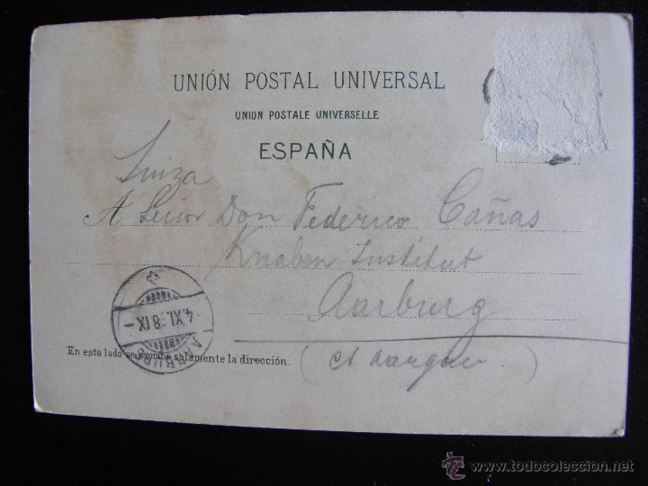 Postales: Corrida de toros. Diversas suertes. Circulada en 1898. - Foto 2 - 54417563