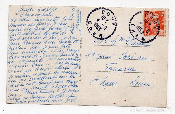 Postales: Tipos Populares. La Lechera. Franqueada el 4 de Septiembre de 1953. - Foto 2 - 55560628