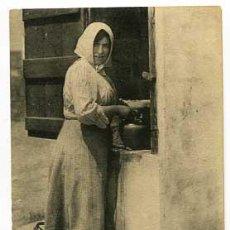 Postales: CATALUÑA TIPO DEL PAIS UNA PAYESA A LA FUENTE. L. ROISIN, FOT. -BARCELONA. SIN CIRCULAR. Lote 57958439