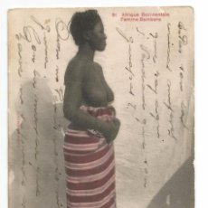 Postales: AFRIQUE OCCIDENTALE .- FEMME BAMBARA Nº 81 .- CIRCULADA 1916. Lote 58371286