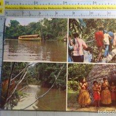 Postales: POSTAL ÉTNICA. BRASIL TRIBU ESCENAS TÍPICAS DEL RÍO MOMON EN EL TOUR DEL AMAZONAS. 1096. Lote 62464120