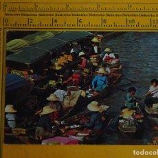 Postales: POSTAL DE THAILANDIA, ÉTNICA. MERCADO FLOTANTE DE BANGKOK. 1186. Lote 66208594