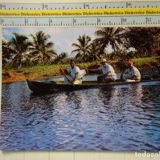 Postales: POSTAL ÉTNICA. HONDURAS, MISIÓN MOSQUITIA. CAYUCO DE PESCA. 397. Lote 67452401