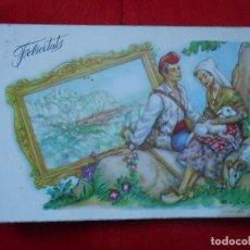 Postales: POSTAL FELICITATS AÑOS 50. Lote 68810321