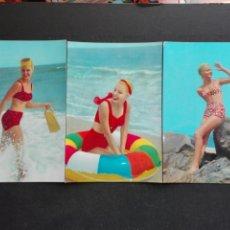 Postcards - 3 postales de mujeres de los años 60 - 71104734