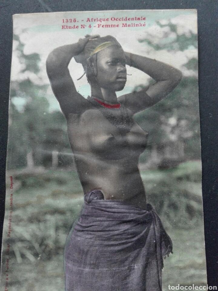 ÁFRICA OCCIDENTAL MUJER MALINKA (Postales - Postales Temáticas - Étnicas)