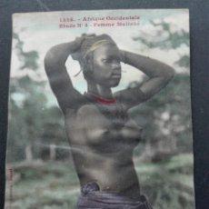 Postales: ÁFRICA OCCIDENTAL MUJER MALINKA. Lote 71582625