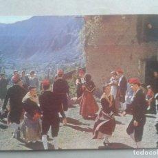 Postales: DANZAS Y TRAJES TÍPICOS. VALLE DE ANDORRA. AÑO 1953. ESCRITA.. Lote 72789679