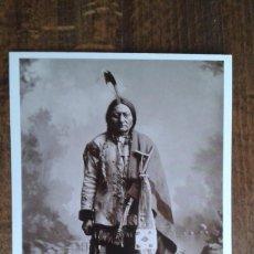 Postales: POSTAL DE DEL OESTE AMERICANO DE AZUSA - POST CARD DE JEFE INDIO. Lote 76967609