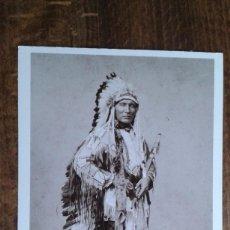Postales: POSTAL DE DEL OESTE AMERICANO DE AZUSA - POST CARD DE JEFE INDIO. Lote 76967729