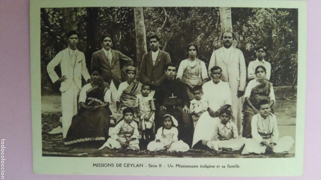 SIETE POSTALES MISSIONS DE CEYLAN MISSIONNAIRE OBLATS MARIA INMACULADA MISIONEROS (Postales - Postales Temáticas - Étnicas)