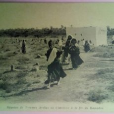 Postales: POSTAL REUNIÓN DE MUJERES ÁRABES EN EL CEMENTERIO AL FINAL DEL RAMADÁN. Lote 78418149