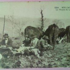Postales: POSTAL FRANCIA REPOSO EN EL LABOREO LABRAR ARADO. Lote 79915197