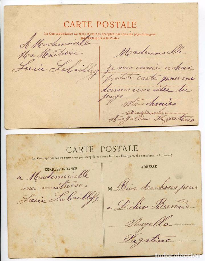 Postales: Martinica, Martinique. Une Marchande de bananes, y Martiniquaise. Dos postales - Foto 2 - 89398536
