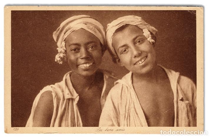 POSTAL 'LES BONS AMIS', DE LOS AÑOS 1910 L&L ÉDITEURS 135 - NO CIRCULADA (Postales - Postales Temáticas - Étnicas)